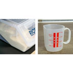 米びつ 新防虫米びつ 5kg 計量カップ付 防虫剤付き ( ライスボックス 米櫃 こめびつ )|livingut|07