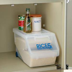 米びつ 新防虫米びつ 5kg 計量カップ付 防虫剤付き ( ライスボックス 米櫃 こめびつ )|livingut|08