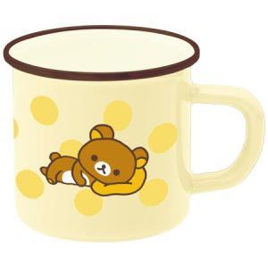 マグカップ ホーローマグ リラックマ ドット ホーロー製 ( ホーローマグカップ 琺瑯 ほうろう )|livingut