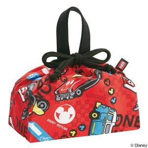 お弁当袋 ランチ巾着 ディズニーモータース 子供用 キャラクター ( 給食袋 ランチボックス巾着 子供用お弁当袋 )