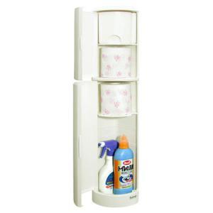 トイレ収納ケース トイレラック Refrain S型 ( トイレットペーパー 掃除道具 トイレ コー...