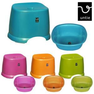 風呂椅子&湯桶角セット アンティー untie