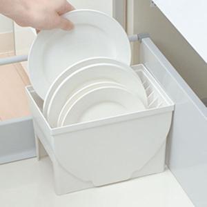 キッチン収納ケース ディッシュスタンド S システムキッチン 引き出し用 トトノ ( 皿立て ディッシュラック 食器収納 )|livingut|11