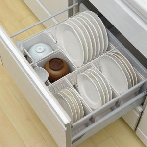 キッチン収納ケース ディッシュスタンド S システムキッチン 引き出し用 トトノ ( 皿立て ディッシュラック 食器収納 )|livingut|12