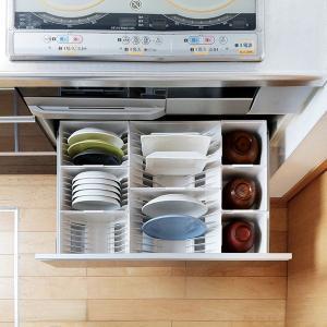キッチン収納ケース ディッシュスタンド S システムキッチン 引き出し用 トトノ ( 皿立て ディッシュラック 食器収納 )|livingut|15