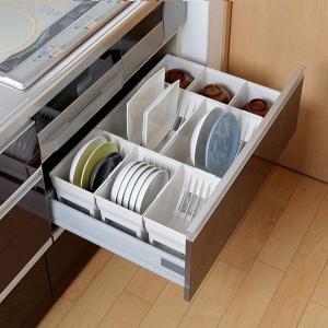 キッチン収納ケース ディッシュスタンド S システムキッチン 引き出し用 トトノ ( 皿立て ディッシュラック 食器収納 )|livingut|16