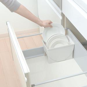 キッチン収納ケース ディッシュスタンド S システムキッチン 引き出し用 トトノ ( 皿立て ディッシュラック 食器収納 )|livingut|10