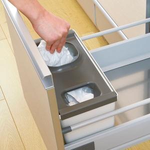 キッチン収納ケース レジ袋収納ボックス システムキッチン 引き出し用 トトノ ( レジ袋ストッカー ゴミ袋ストッカー ポリ袋ストッカー )|livingut|15