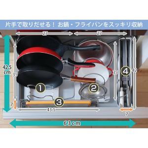 キッチン収納ケース レジ袋収納ボックス システムキッチン 引き出し用 トトノ ( レジ袋ストッカー ゴミ袋ストッカー ポリ袋ストッカー )|livingut|06