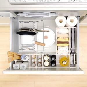 キッチン収納ケース レジ袋収納ボックス システムキッチン 引き出し用 トトノ ( レジ袋ストッカー ゴミ袋ストッカー ポリ袋ストッカー )|livingut|09