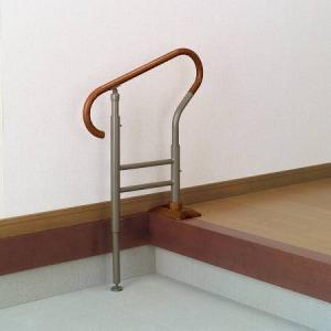 玄関用 あがりかまちの手すり 高さ5段階調節 livingut