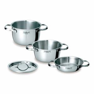 Vita Craft ビタクラフト ミニパンセット 両手鍋 800ml 1.5L 2.1L 蓋1個付き No.2800 IH対応 ( 無水調理 無油調理 無水鍋 )