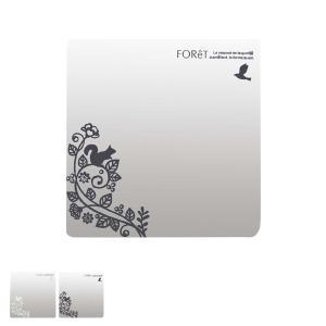 ウォールミラー レギュラー フォレット FOReT 壁紙シール 鏡 シール ( 壁掛け ミラー ステッカー 割れない )|livingut