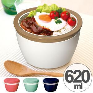 保温弁当箱 カフェスタイルランチ カフェ丼ランチ 620ml ステンレス製 ( どんぶり 弁当箱 ランチジャー 保温 ランチボックス )|livingut