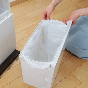 ゴミ箱 分別 2段 薄型 ワイド 40L 縦型 分別ゴミ箱 ベーシックカラー ( キッチン 分別 ごみ箱 ふた付き スリム ペダル )|livingut|12