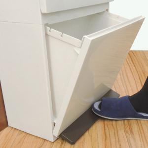 ゴミ箱 分別 2段 薄型 ワイド 40L 縦型 分別ゴミ箱 ベーシックカラー ( キッチン 分別 ごみ箱 ふた付き スリム ペダル )|livingut|14