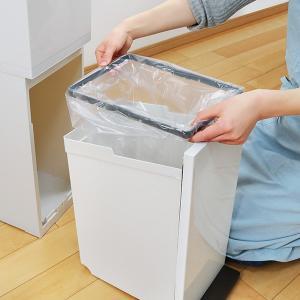 ゴミ箱 分別 2段 スリム パッキン付き 防臭 38L 縦型 分別ゴミ箱 ベーシックカラー ( キッチン 分別 ごみ箱 ふた付き プッシュ ペダル )|livingut|09