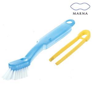 風呂用スポンジ・ブラシ MARNA(マーナ) 掃除の達人 浴室チョコッと洗い