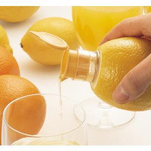 ●使い方簡単でとっても便利です! (1)レモンの先を切る。 (2)切り口からねじり込む (3)レモン...
