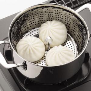 蒸し器 大型 スチーマー フリーサイズ ステンレス製 18〜26cm ( 万能蒸し器 キッチンツール...