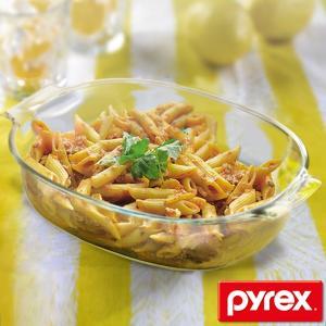 グラタン皿 大皿 32cm パイレックス Pyrex 強化ガラス オーブンウェア 皿 食器 ( 耐熱 ガラス オーバル ラザニア グラタン 製菓 )|livingut