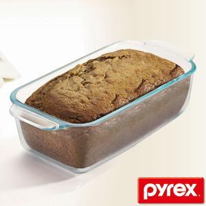 パウンドケーキ型 26cm 強化ガラス パイレックス Pyrex オーブンウェア 皿 食器 ( パウンドケーキ 型 容器 耐熱 ガラス オーブン 電子レンジ )|livingut