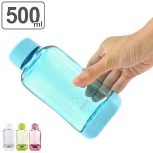 水筒 プラスチック ブロックスタイル アクアボトル BPAフリー 500ml ウォーターボトル ( ボトル 目盛り付き クリア プラボトル マグボトル スポーツ )|リビングート PayPayモール店