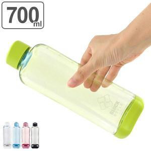水筒 プラスチック ブロックスタイル アクアボトル BPAフリー 700ml ウォーターボトル ( ボトル 目盛り付き クリア プラボトル マグボトル スポーツ )|リビングート PayPayモール店