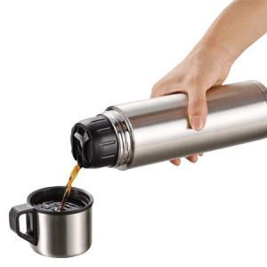 水筒 ステンレスボトル コップ付 1リットル スタイルベーシック ( 保温 保冷 魔法瓶 )|livingut|03
