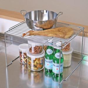 キッチンラック キッチンストレージ 積み重ね棚 ワイド ( キッチン収納 収納ラック 卓上スタンド )|livingut
