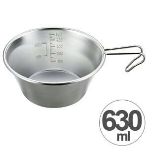 アウトドア用品 ステンレス ビッグシェラカップ 630ml ( キャプテンスタッグ キャンプ用品 調理器具 )|livingut