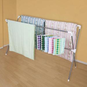 物干しスタンド ワイド布団干し 伸縮 ステンレス製 軽量 140〜234cm ( 洗濯物干し 折りたたみ ふとん干し )|livingut