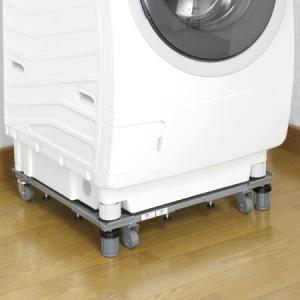 新洗濯機スライド台 洗濯機置き台 キャスター付 ( 洗濯機 移動 台車 ランドリー )|livingut
