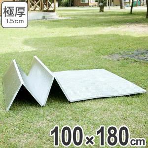 レジャーシート 極厚 15mm 折りたたみ式 レジャーマット 幅 100cm 厚手 ( アルミマット マット クッション ピクニックシート )|livingut