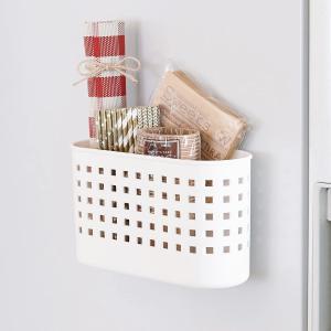 マグネットバスケット ミニ Mag-On 小物収納 小物入れ 磁石 ( 小物バスケット 小物スタンド ラップホルダー ラップ立て )|livingut