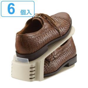 靴 収納 くつホルダー 6個セット ( 靴ホルダー シューズラック シューズボックス )