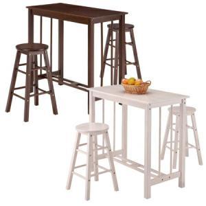 カウンターダイニング 天然木 3点セット ( 木製 ダイニングチェア ダイニングテーブル カウンターチェア カウンターテーブル 机 椅子 )|livingut