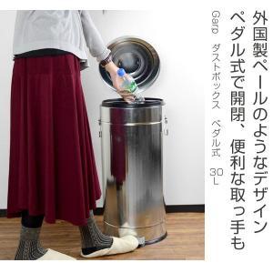 ■在庫限り・入荷なし■ ゴミ箱 ダストボックス ペダル式 Garp 30L ( ごみ箱 ふた付き おしゃれ )|livingut|02