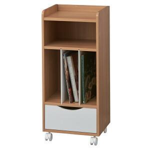 書類棚 本棚 サイドワゴン キャスター付き ココナ 幅33.5cm ( ランドセルラック スリム サイドラック ラック 引き出し )|livingut