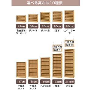 オーダー本棚 壁面収納 オーダーラック 標準棚板タイプ 幅60-70cm 奥行19cm 高さ88cm ( 本棚 オーダー オーダーメイド 収納棚 )|livingut|09