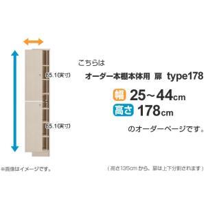 オーダー本棚用扉 高さ178cm 幅25-44cm type178 ( オーダーメイド セミオーダー )|livingut|02