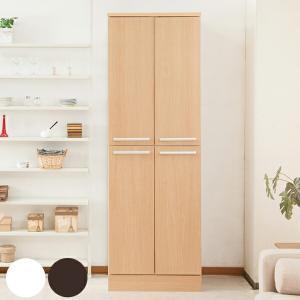 食器棚 キッチンストッカー 北欧風 大容量 収納庫 Face 幅60cm ( キッチン収納 収納 キッチンボード ストッカー )の写真