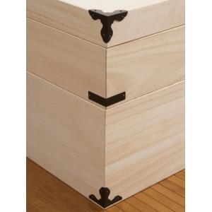 桐 衣装ケース 衣装箱 2段 日本製 幅91cm ( 完成品 桐衣装箱 天然木 木製 )|livingut|07