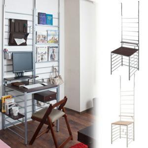 システムデスク 突っ張りパーテーション型 幅60cm マガジンタイプ 板天板 ( 机 テーブル )|livingut