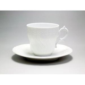 リチャード・ジノリ ベッキオ・ホワイト コーヒーC/S L #2770/2830(9301) 200cc|livingwell-de