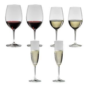 送料無料 リーデル RIEDEL ヴィノム スターターセット ワイングラス ボルドー、ジンファンデル、シャンパン 各2本の6本セット 416/0,416/15,416/8|livingwell-de