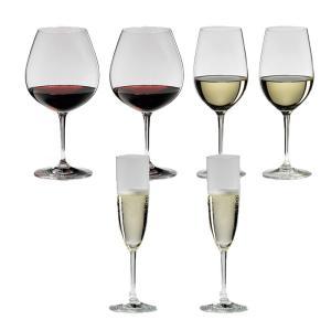 送料無料 リーデル RIEDEL ヴィノム スターターセット ワイングラス ブルゴーニュ、ジンファンデル  、シャンパン 各2本の6本セット 416/7,416/15,416/8|livingwell-de