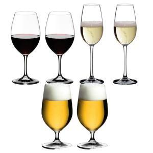 送料無料 リーデル RIEDEL オヴァチュア 赤ワイン+ビアグラス+シャンパン 各2本の6本セット ビール ビアー|livingwell-de