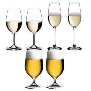 送料無料 リーデル RIEDEL オヴァチュア 白ワイン+ビアグラス+シャンパン 各2本の6本セット ビール ビアー|livingwell-de