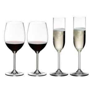 送料無料 リーデル RIEDEL ワインシリーズ カベルネ/メルロー(6448/0)+シャンパーニュ(6448/8) 4本セット ワイン、シャンパン|livingwell-de
